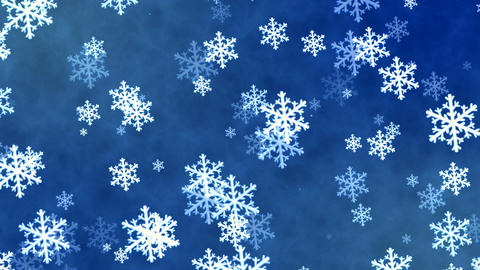 Christmas loopable background with nice falling snowflakes Image