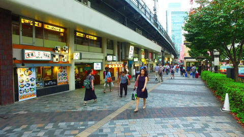 various restaurant under railway viaduct in Yurakucho,Tokyo Japan ライブ動画