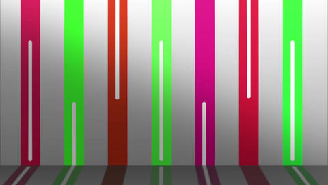 COLOR LINE WALL PINK-GREEN Animation