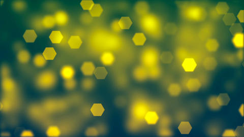 Abstract background of blurry yellow hexagonal bokeh Animation