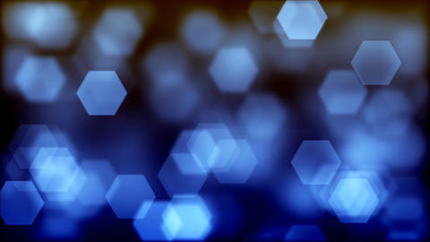 Abstract background of blurry blue hexagonal bokeh Animation