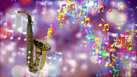 HD Loopable Background with nice abstract saxophone Stock Video Footage