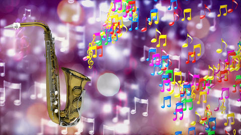 HD Loopable Background with nice abstract saxophone Animation