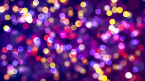 Multicolored lights with bokeh. Abstract loopable background Animation