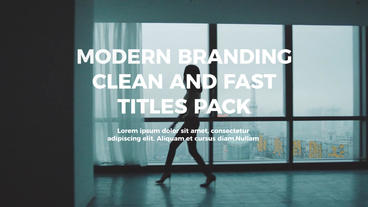 Fast Modern Titles Premiere Pro Template