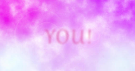 I Love You text animation Stock Video Footage