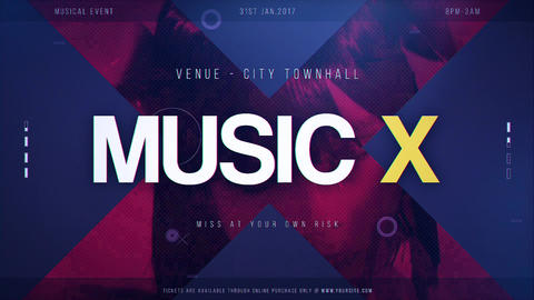 Music X After Effects Template