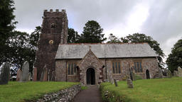 Church of St Mary Magdelene Exford Somerset UK Footage