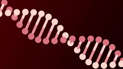 DNA molecule animation seamless loop from 8:08s, Luma Matte Animation