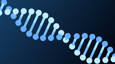 DNA molecule animation seamless loop from 8:08s, alpha channel Animation