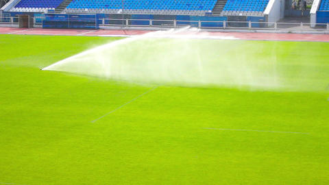 Watering the football field Footage