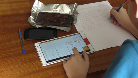 The boy and the Tablet Image