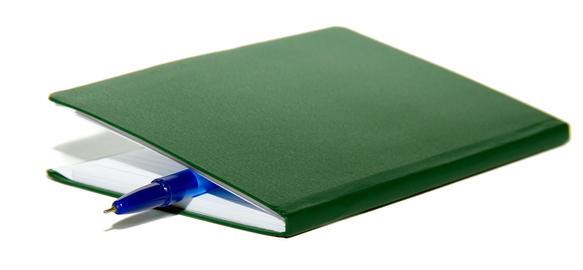 Notepad book and pen Fotografía