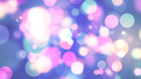 HD Loopable Background with nice multicolor bokeh Animation
