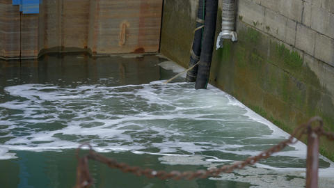 Water Pollution, Wastewater In A Harbor - Native Version Live Action