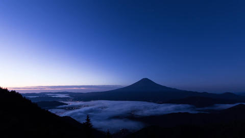 Mt.Fuji sunrise (sea ​​of ​​clouds) Footage
