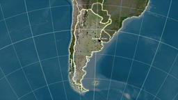 Argentina and neighborhood. Satellite Animation