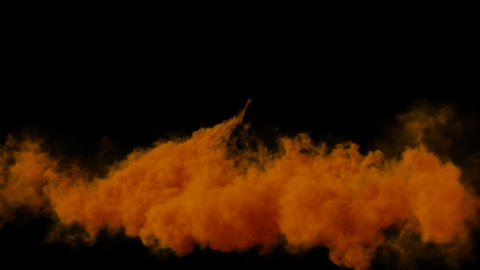 Edit Volume Orange Smoke with Alpha Channel Animation