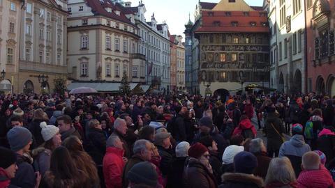 PRAGUE, CZECH REPUBLIC - DECEMBER 3, 2016. 4K steadicam overhead video of Live Action