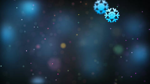 Christmas loopable background with nice falling snowflakes 애니메이션