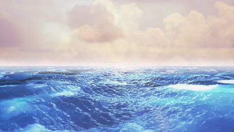 Realistic Ocean, Abstract Loopable Background Animación