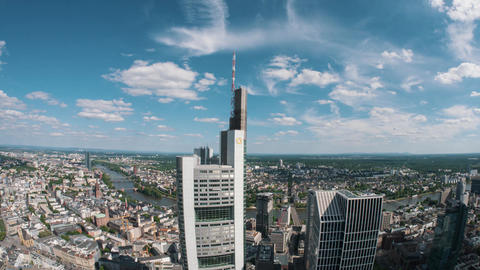 Holiday in Frankfurt – cityscape skyline time-lapse from a skyscraper ภาพวิดีโอ