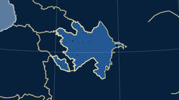 Azerbaijan and neighborhood. Solids Animation