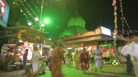 Kalighat temple at night Archivo