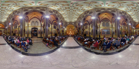 360Vr Banos De Agua Santa Church Interior Footage