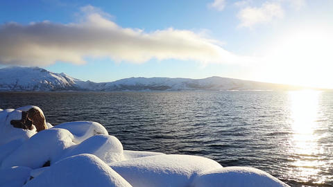 Sunny Winter in the Fjord Image