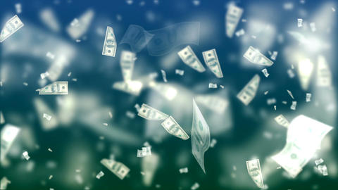 Flying Dollars. Abstract Loopable Background CG動画素材