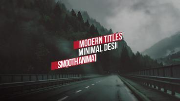 Modern Minimal Titles Premiere Pro Template