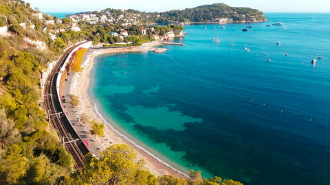 Aerial View of Saint Jean Cap Ferrat Footage