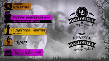 Halloween Lower Thirds Kit Plantilla de After Effects