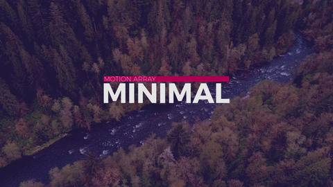 New Minimal Titles Premiere Pro Template