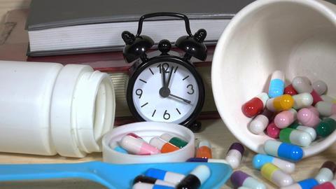 Pills. Medicine and health. Close up of capsules ライブ動画