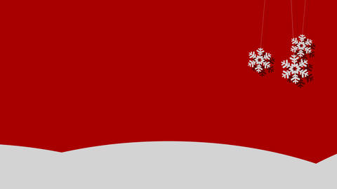 Snowy Vector Christmas Background of Snowflakes on a String Image