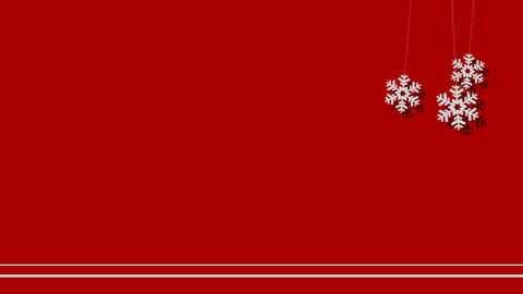 Vector Christmas Background of Snowflakes on a String Footage