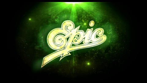 Gold Elegant Logo (Green) After Effects Template