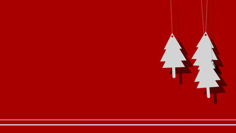 Vector Christmas Background of Trees on a String Footage