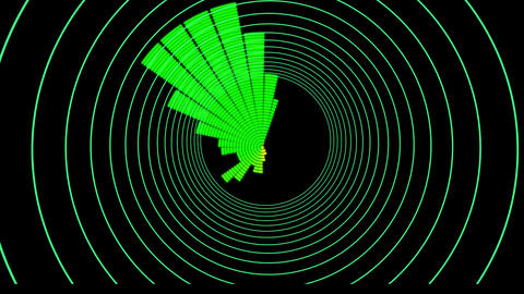 Beat Driven Glow Infinity Tunnel - Synced 128 BPM Animation