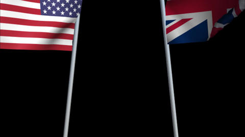 Crossed UK / US Flags RGB Alpha Animation