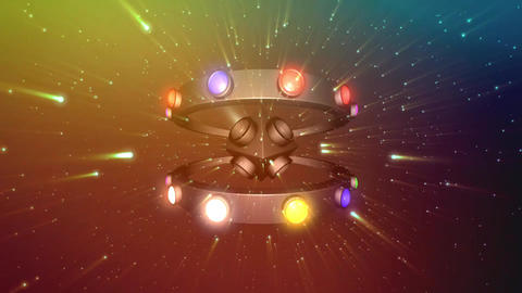 UFO Disco Spinning Light Animation