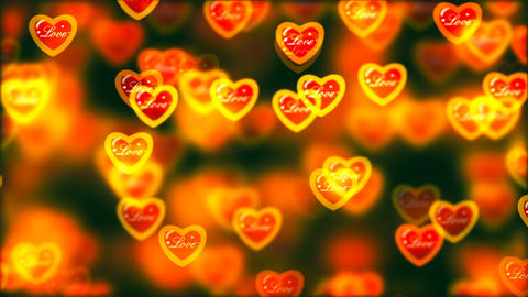 Flying Hearts, Abstract Loopable Background Image