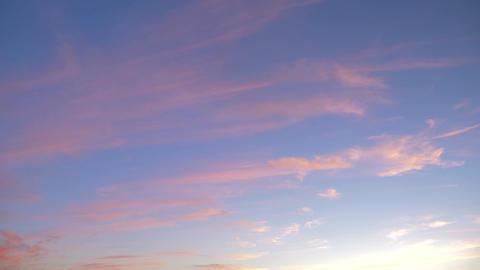 Pan Along An Orange Sky At Sunset - Native Version Footage