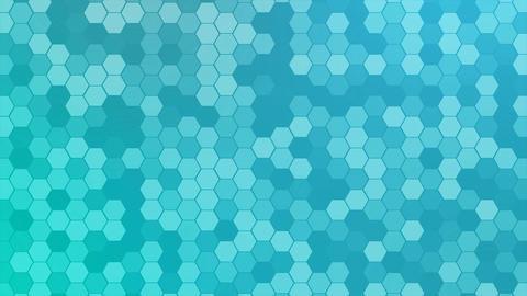 4K Loop Hexagons Mosaic Background Footage