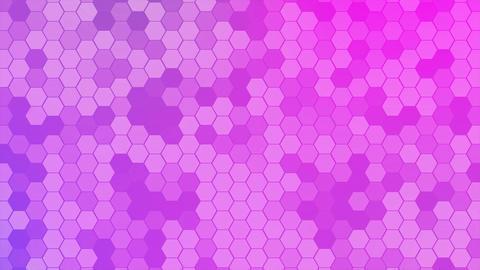4K Loop Hexagons Mosaic Background Stock Video Footage