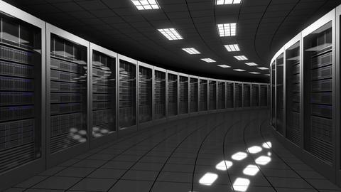 Modern big data center servers Archivo