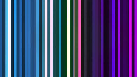 Broadcast Twinkling Vertical Hi-Tech Bars, Multi Color, Abstract, Loopable, 4K CG動画素材