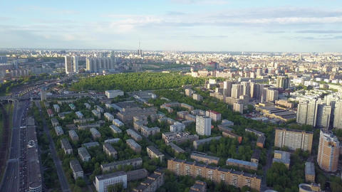Moscow cityscape view to central and northern parts of the city Footage